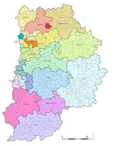Carte des nouveaux cantons de Seine et Marne.