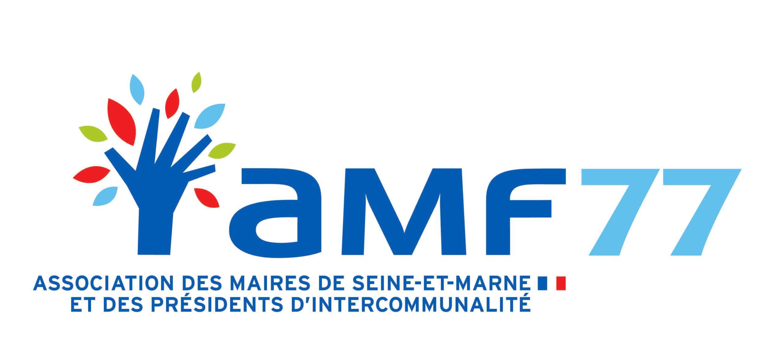 Logo de l'Association des maires de Seine et Marne et des présidents d'intercommunalité. soutiens de Combo77